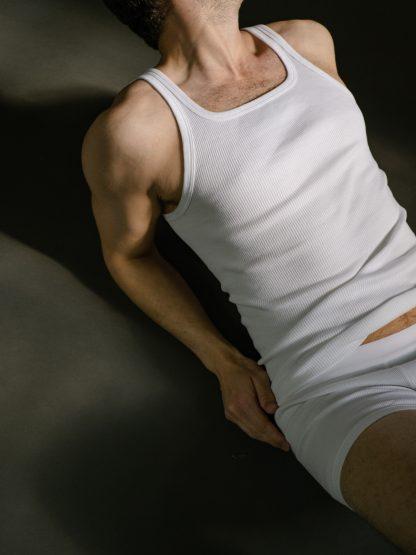 tank top ribbed organic cotton sportliches doppelripp Unterhemd